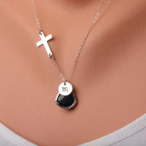 Cross necklace,Blessed necklace,Sma..