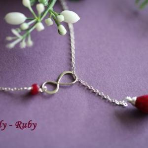 Personalized Infinity necklace,July..