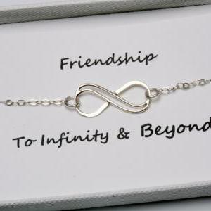 Infinity bracelet with card,sterlin..