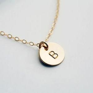 Custom Initial GOLD Filled Necklace..