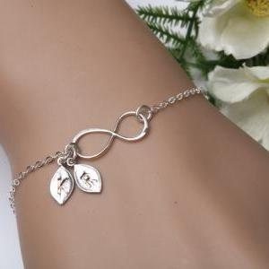 Infinity Bracelet, TWO Initials let..