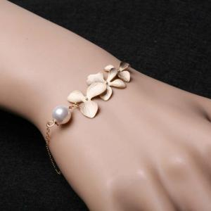 Orchid Flowers Bracelet and White P..