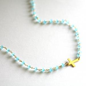 Long layered Chalcedony and Cross n..