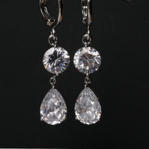 Bridal Earrings Cubic Zirconia Earr..