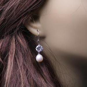 Bridal Earrings Cubic Zirconia Ear ..