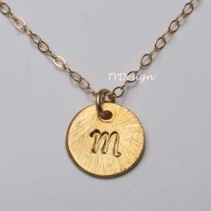 Custom Gold plated Initial Necklace..