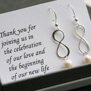Sterling Silver infinity earrings,P..