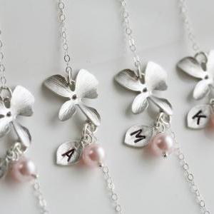 Set of 8,Bridesmaid Gifts,Orchid fl..