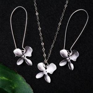 Orchid Flower Jewelry Set,Orchid fl..