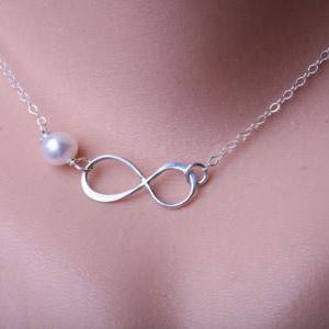 Infinity and birthstone sterling si..