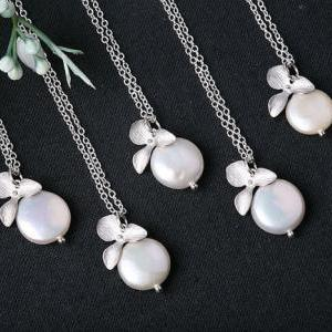 Set of 4,FreshWater Coin Pearl and ..
