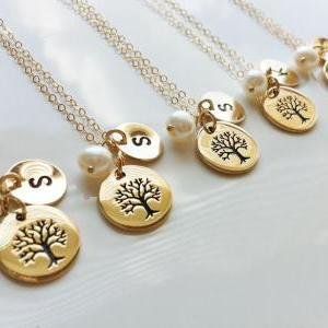 SET of 5,Family Tree Gold Filled Ne..