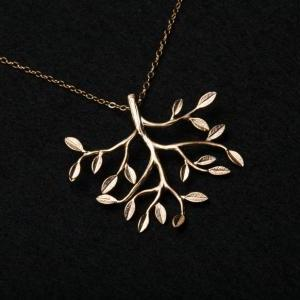 ON SALE-Family Tree Necklace,Gold F..