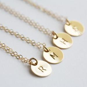 Set of 5,Custom Initial GOLD Filled..