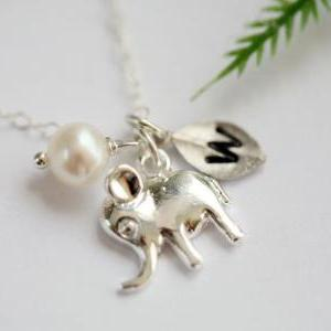 Tiny Lucky Elephant Sterling Silver..