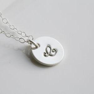 Monogram necklace,Personalized init..