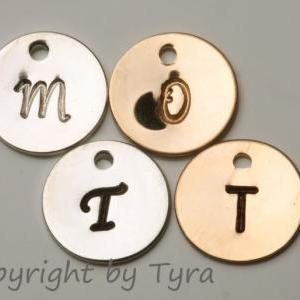 Set of 8,Custom Initial GOLD Filled..