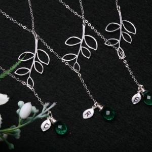 Set of 5,Branch leaf Necklace,Perso..