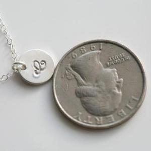 Custom Initial Sterling silver Neck..