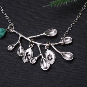 Branch Necklace,Leaf Jewelry,Turquo..