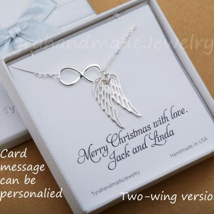 Infinity Angel Wing necklace,parent..