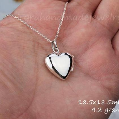 sterling silver heart locket,perfum..