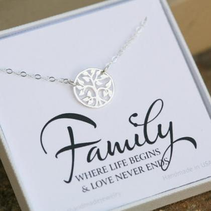 Family Tree Necklace,Mother's day g..