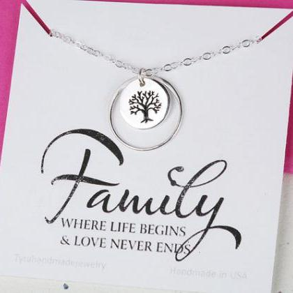 Family Tree karma Necklace,Mother's..