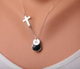 Cross necklace,Bless..