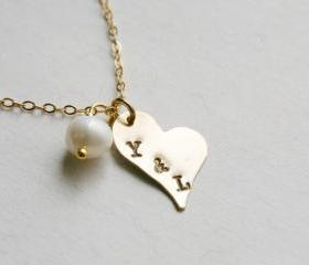 Heart Necklace,Two i..
