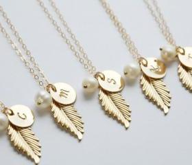 set of 6,Gold Feathe..