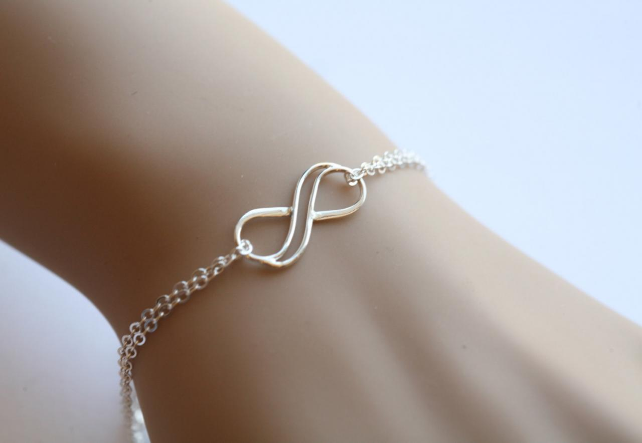 Best friends braceletcircle braceleteternity love circle double infinity sterling silver bracelet figure eight bracelet infinite friendship braceletsisterhood biocorpaavc Image collections