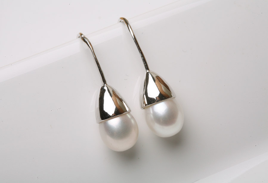 Classic AAA grade freshwater pearl sterlig silver earrings,Silver,Mother's Jewelry,Simply daily Earriny,mother jewelry,maid of honer