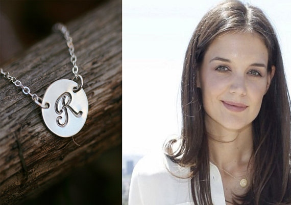 Initial pendant large disc necklace personalized jewelry monogram initial pendant large disc necklace personalized jewelry monogram initial charm celebrity inspired jewelrybridesmaid gifts aloadofball Gallery
