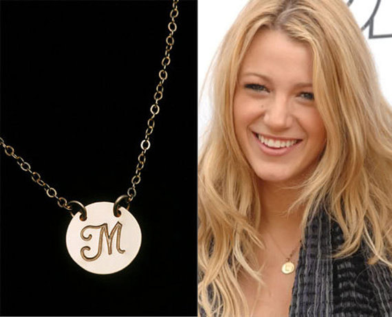 Initial pendant large disc necklace personalized jewelry initial pendant large disc necklace personalized jewelry monogram initial charm celebrity inspired jewelrybridesmaid gifts mozeypictures Choice Image