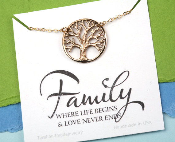 Family Tree Necklace,Mother's Day Gift,Gift For Mother