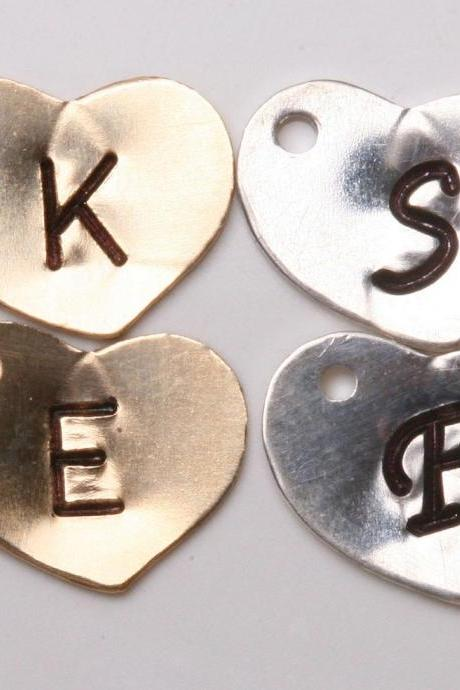 For tyrahandmadejewelry Jewelry buyer ONLY,Add Sterling Silver heart initial letter charm, monogram charm, personalized