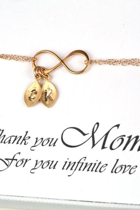 Mother's day gift,Custom monogram infinity charm bracelet,Mother of groom,Gift for mom,mother in law,grandma,nana,Kid,Mother bracelet