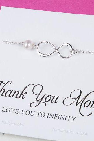 Mother daughter infinity charm bracelet set,gift for mother of groom,Mother in law gift, Infinity bracelet, sisters,mother's day gift