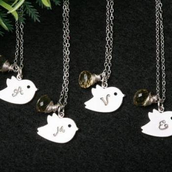 Bridesmaid Gifts,Set of 4,Bird neck..