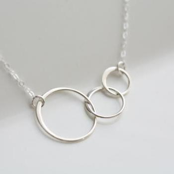 STERLING SILVER Circle Necklace,Eternity love circle,Endless Love,Karma,Friendship,Simple daily Jewelry
