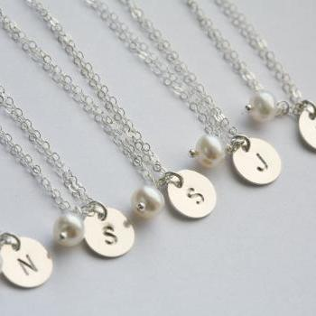 SET OF 11,initial bracelet,Hand stamped,initial letter charm,Bridesmaid gift,Personalized jewelry